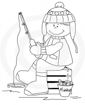 Home    Outdoors    Boy Ice Fishing Exclusive By Whimsy Primsy