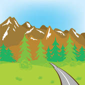 Mountain Road Clipart Royalty Free  1406 Mountain Road Clip Art