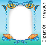 Royalty Free  Rf  Fish Border Clipart Illustrations Vector Graphics