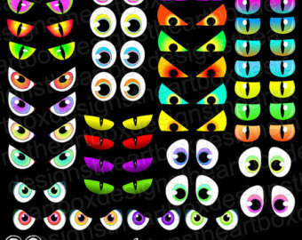 Clip Art Spooky Eyes Clip Art halloween eyes clipart kid spooky creature monster cat eyes