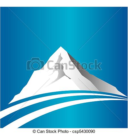 Vector Clipart Of Mountain And Road Csp5430090   Search Clip Art