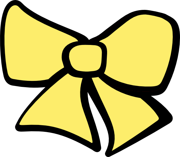 Hair Yellow Bow Clipart - Clipart Kid
