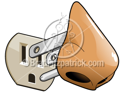 Cartoon Electric Nose Clip Art   E Nose Graphics   Clipart Electric