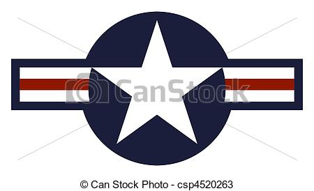 Drawings Of United States Air Force Roundel   Illustration Of United