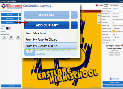 Easy Prints Custom Clip Art Program   Transfer Express