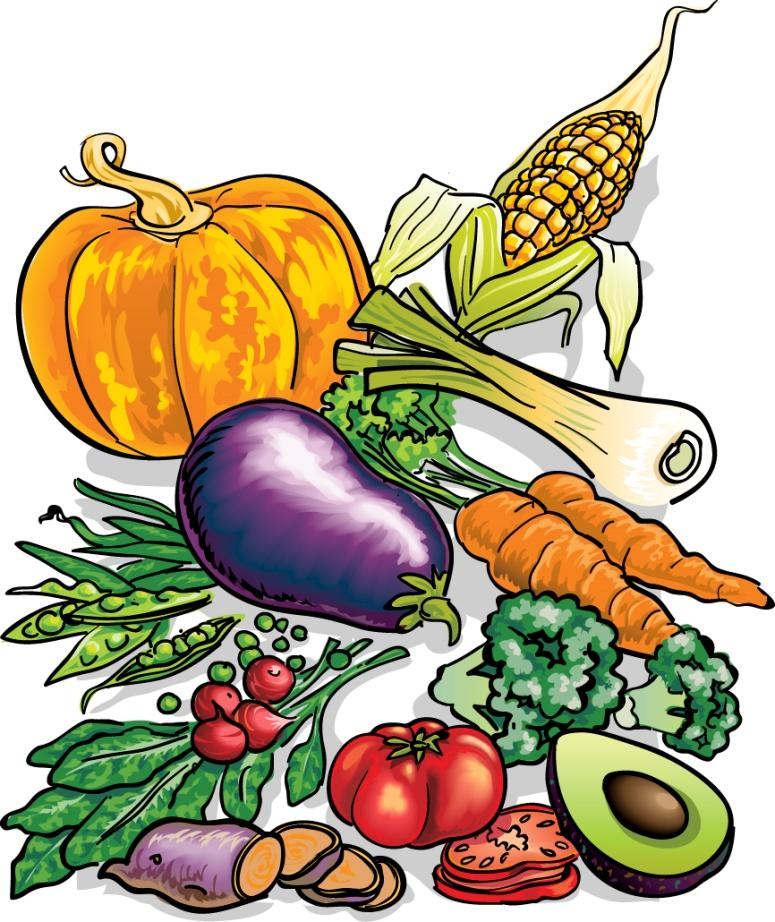 Free Fruit And Vegetables Clipart   Clipart Best