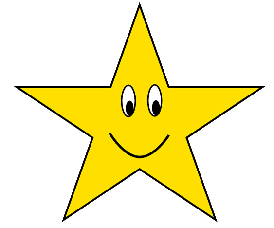 Gold Star With Happy Face Clipart Sketch  Lge 12cm   Flickr   Photo
