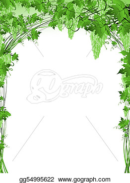 Grape Vine Frame With Copyspace For Your Text  Eps Clipart Gg54995622