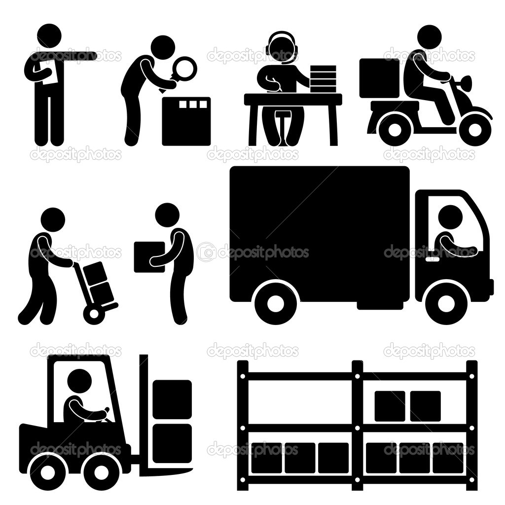 Logistic Warehouse Delivery Shipping Icon Pictogram   Stock Vector