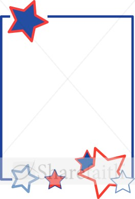 Red White And Blue Stars   Independence Day Clipart