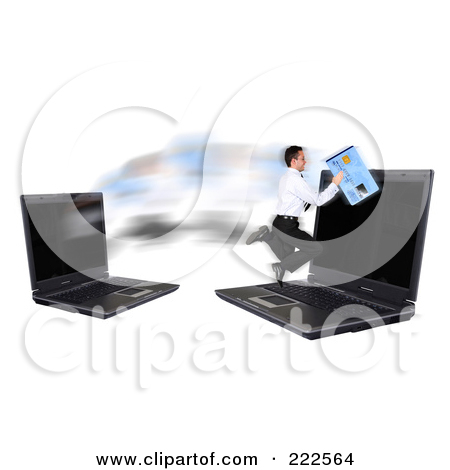 Royalty Free  Rf  Clipart Illustration Of A Online Credit Card Fraud