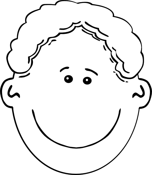 Smiling Boy Face Outline Clip Art At Clker Com   Vector Clip Art