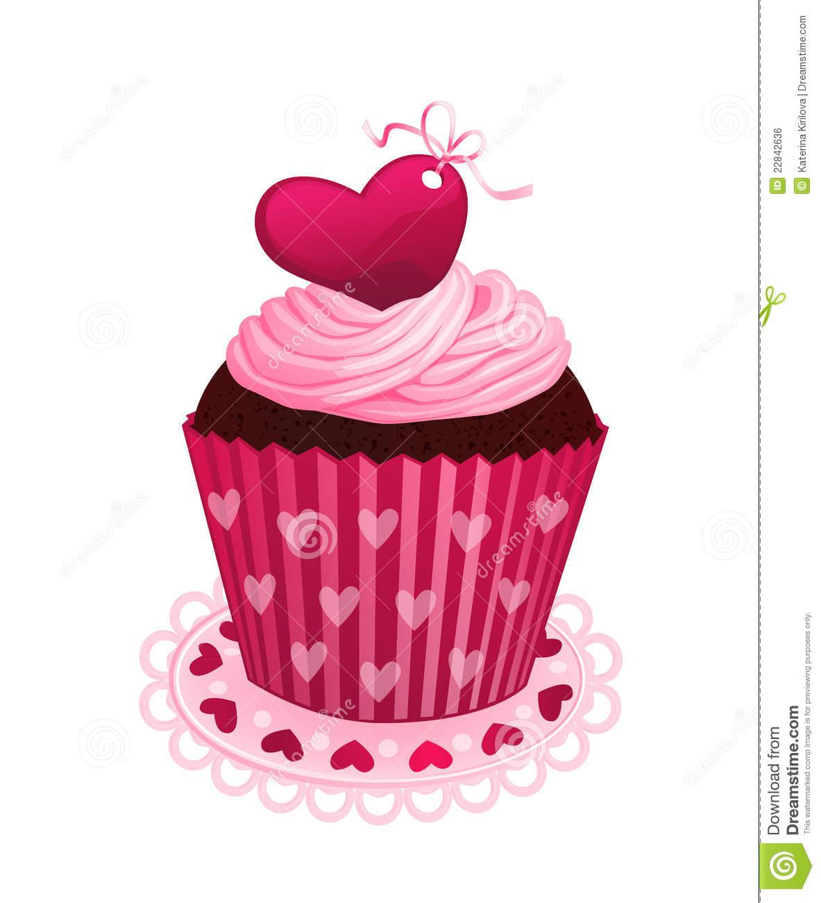 Valentine s Cupcake Clipart - Clipart Suggest