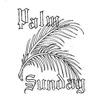 Palm Leaves for Palm Sunday Clip Art Cliparts