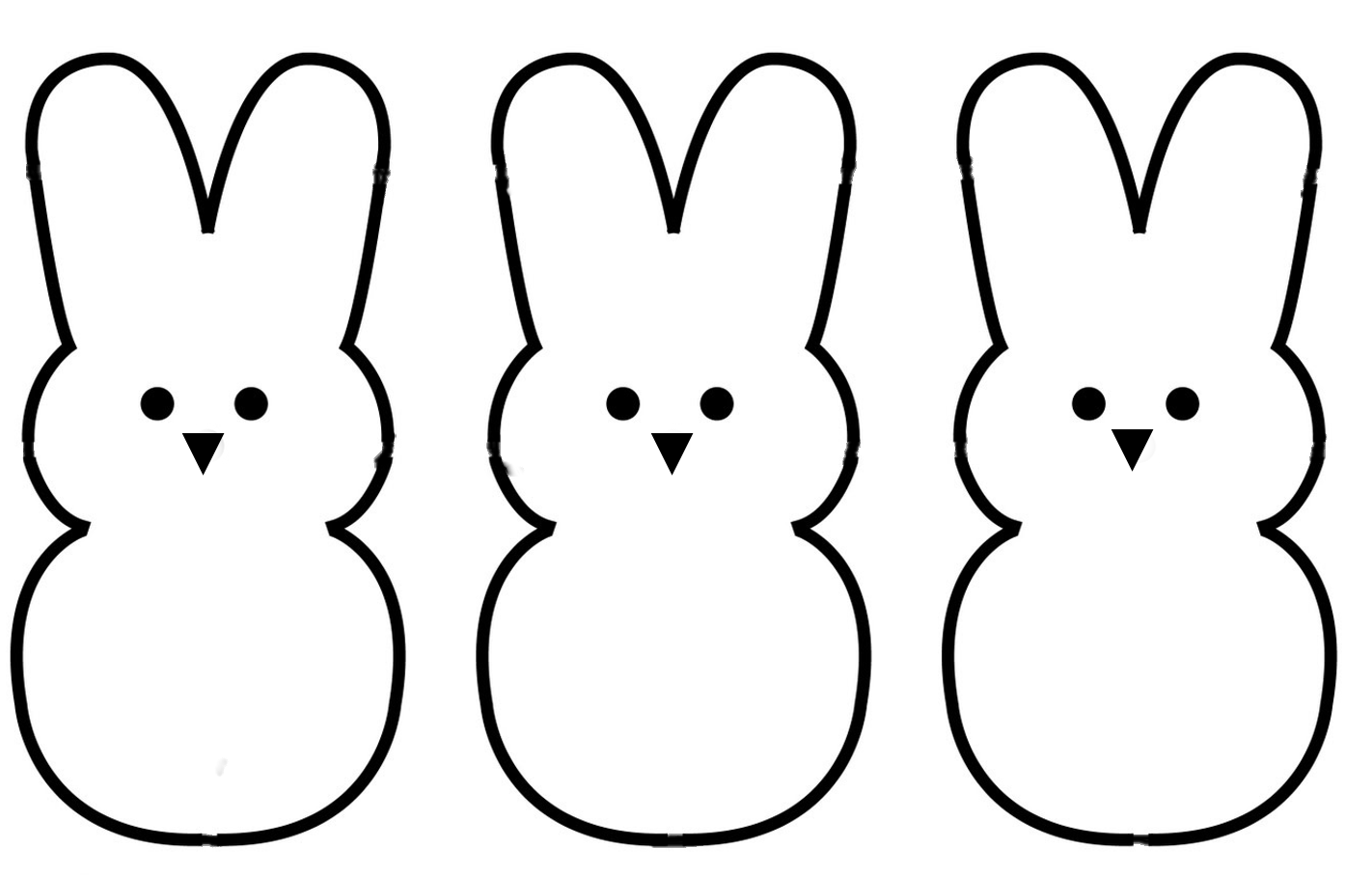 Bunny Outline Clipart - Clipart Kid