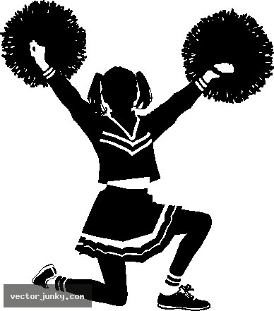 Black Cheerleader Cartoon Clipart - Clipart Kid