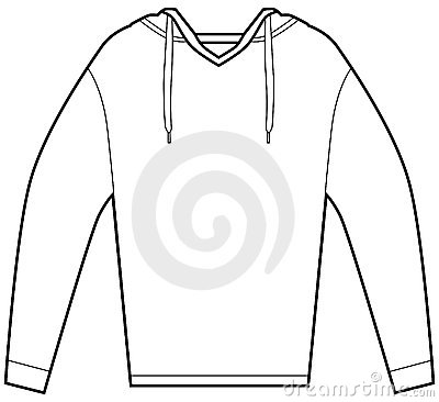 Clip Art Sweatshirt Hooded Pullover Shirt Isolated