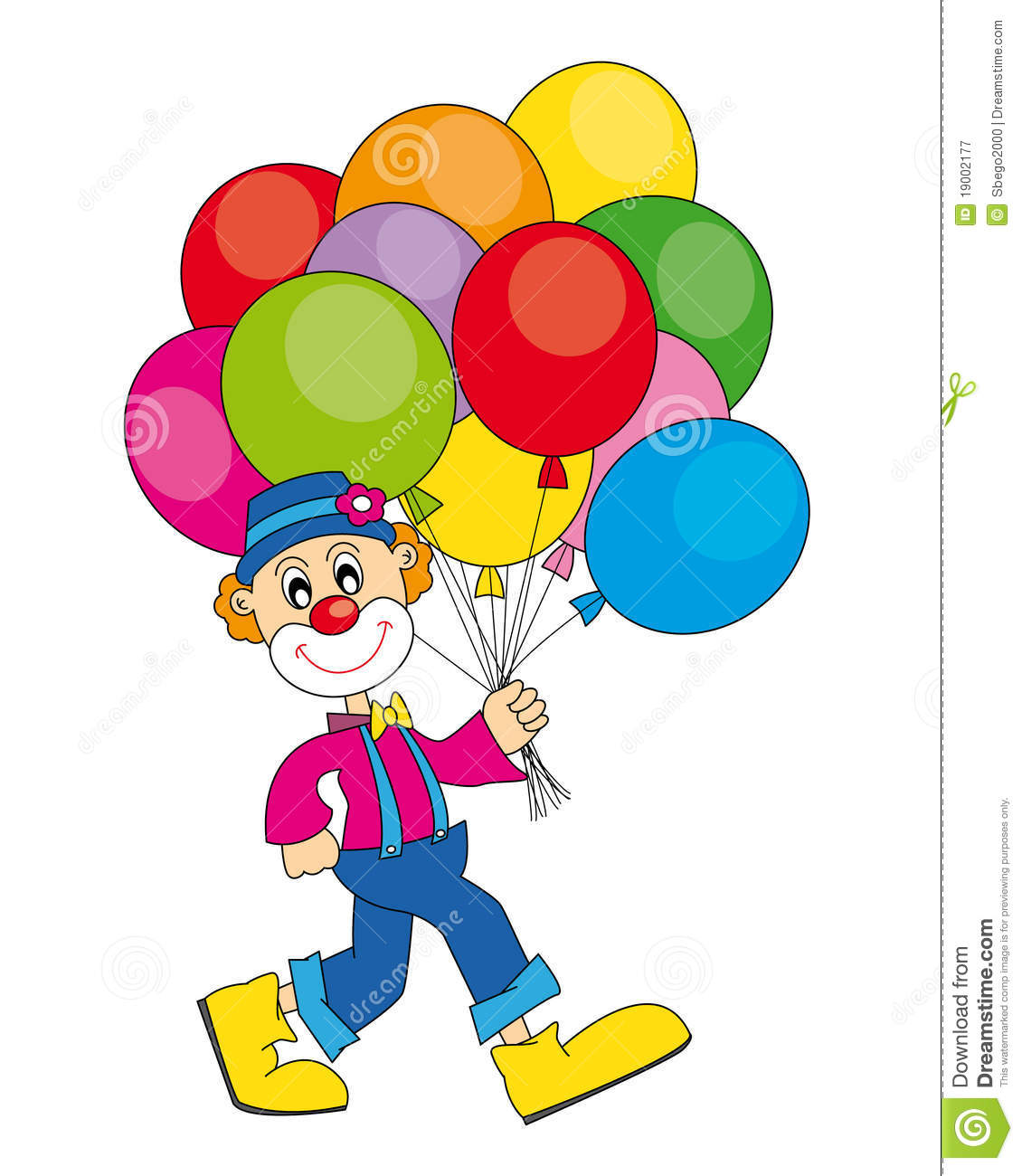 clip art clowns with balloons - photo #4