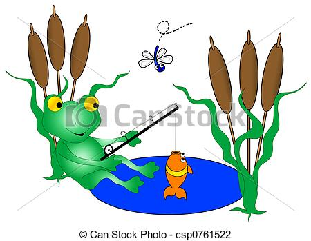 Fish Pond Game Clip Art Pond Clipart
