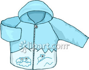 Girls Hooded Sweatshirt   Royalty Free Clipart Picture
