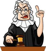 Judge Makes Verdict   Royalty Free Clip Art