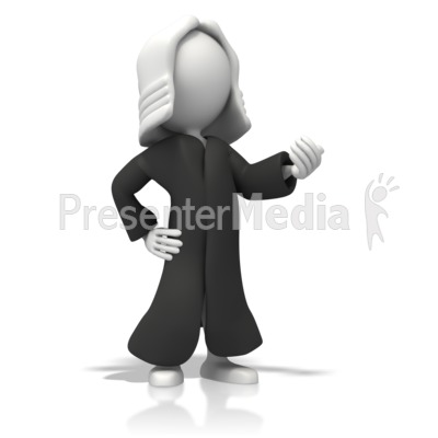 Judge With Robe   Presentation Clipart   Great Clipart For