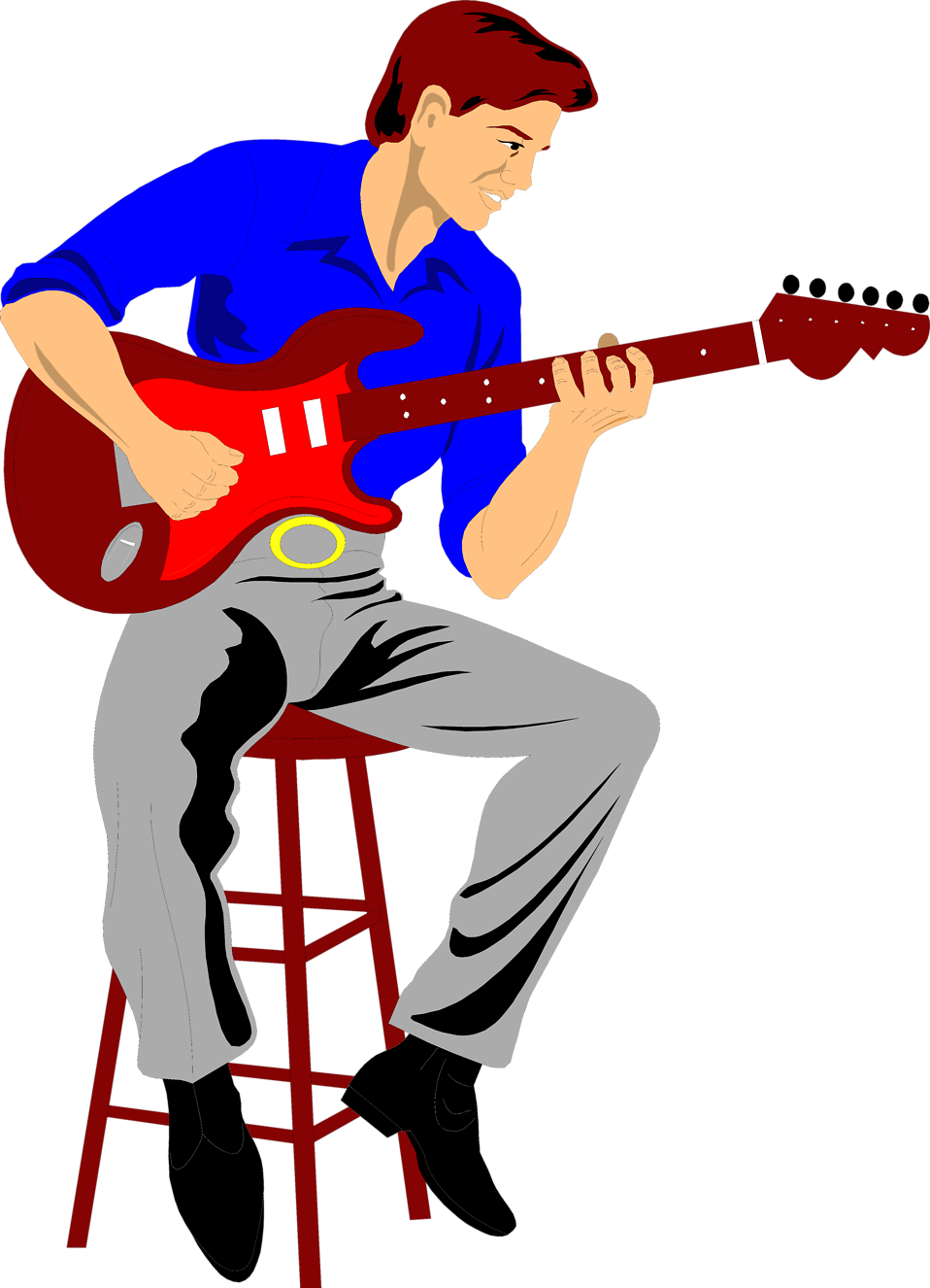 Photo   Illustration Of A Man Playing An Electric Guitar     9625