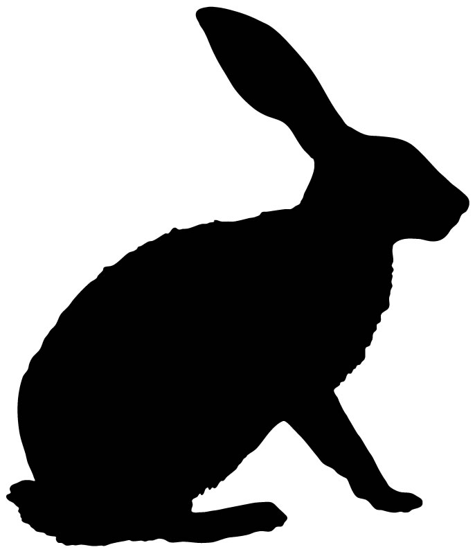 Rabbit Silhouette Bunny Outline Farmyard Animals Wall Sticker Wall