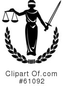 Royalty Free  Rf  Justice Clipart Illustration  61092
