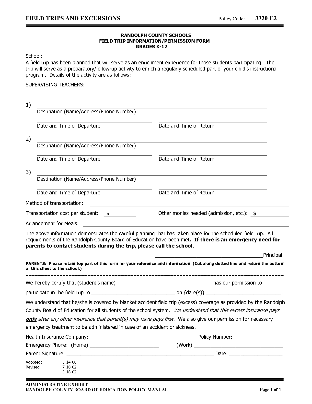 Template permission form template permission 8 permission slip