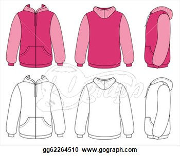 Stock Illustration   Outline Hoodie Illustration  Clip Art Gg62264510