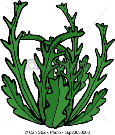 Clip Art Vector Of Cartoon Seaweed Csp20030563   Search Clipart