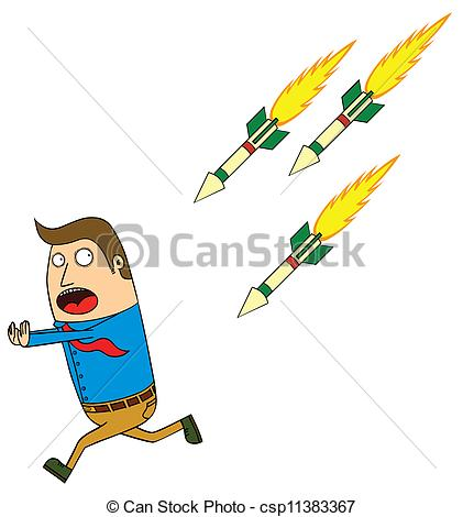 Clip Art Vector Of Homing Missile Attack Csp11383367   Search Clipart