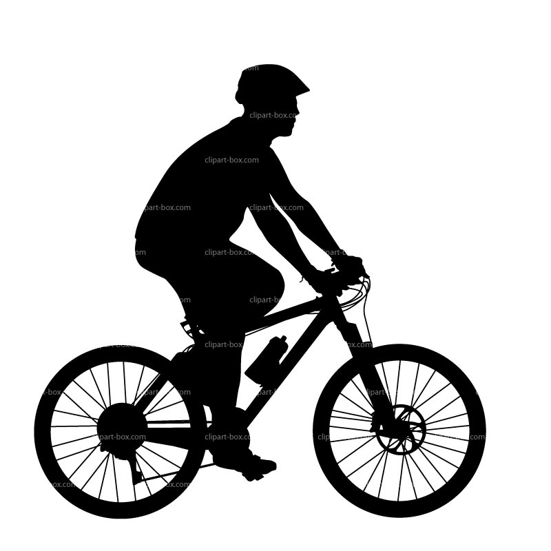 Clipart Mountain Bike   Side View   Royalty Free Vector Design
