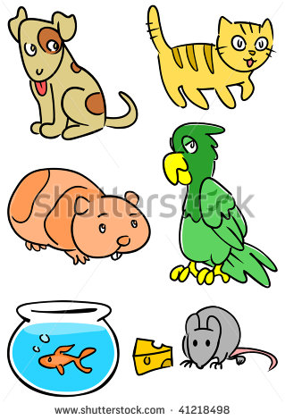 Group Of Pets Clipart Group Of Common Pets Including