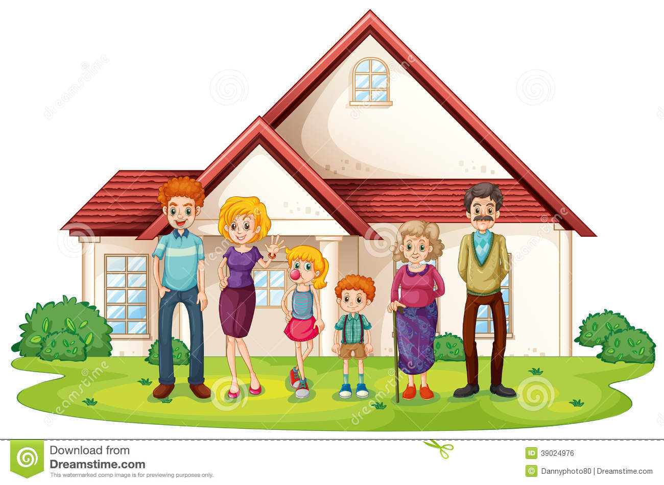 Homes cartoon clipart clipart suggest for Family in house