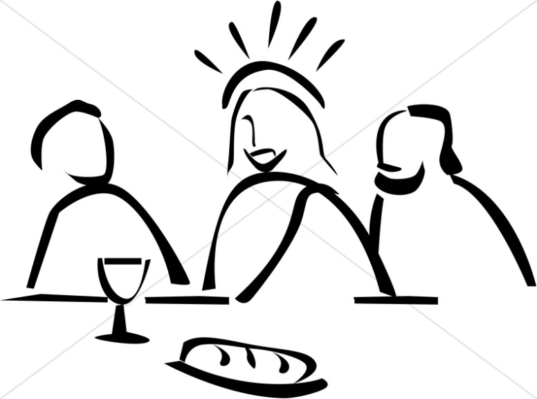Jesus Institutes The Lord S Supper   Maundy Thursday Clipart