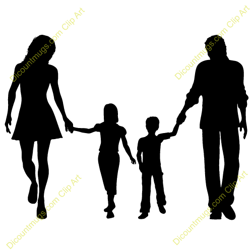 Military Family Clipart Family Walking Clip Art