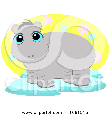 Royalty Free  Rf  Hippo Clipart Illustrations Vector Graphics  1