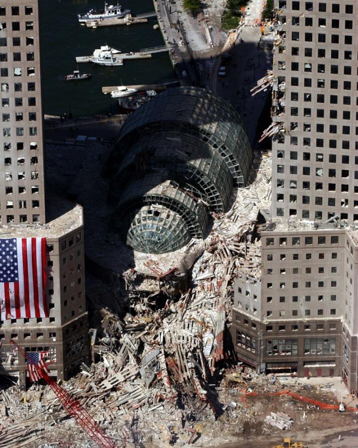 The World Trade Center New York After The September 11 2001 Attacks
