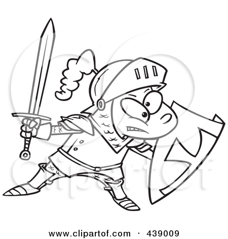 Tomatoes At A Suit Of Armor Clipart Illustration By Ron Leishman  5712