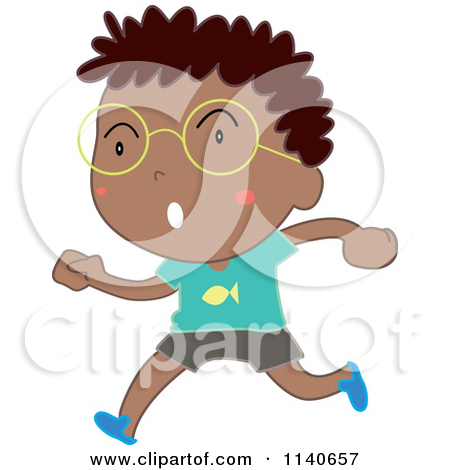 Boy Running   Royalty Free Vector Clipart By Colematt  1159757