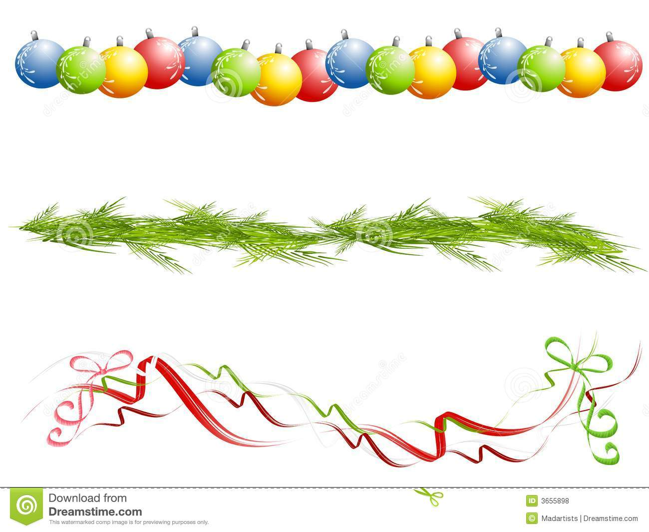 Christmas Borders Lines Dividers Clipart - Clipart Kid