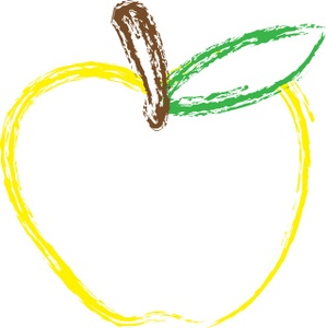 Clip Art Illustration Of A Yellow Apple Clipart Illustration By Rosie