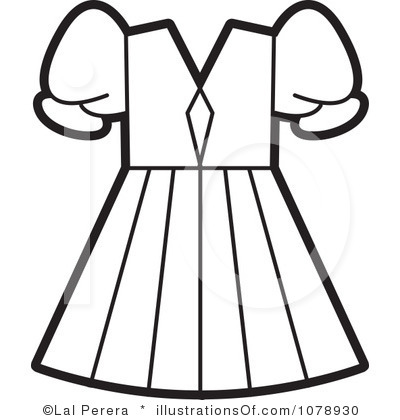 Clipart Black And White Dress Clip Art Royalty Free Dress Clipart