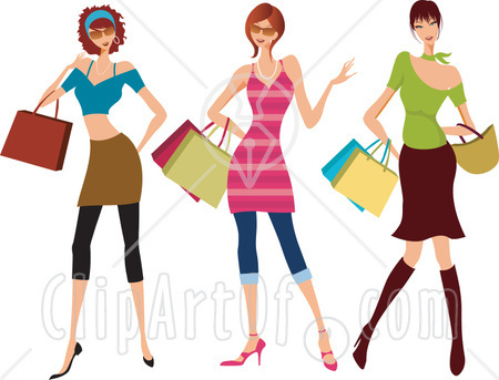 Clothes Carrying Shopping Bags And Purses And Shopping At The Mall Jpg