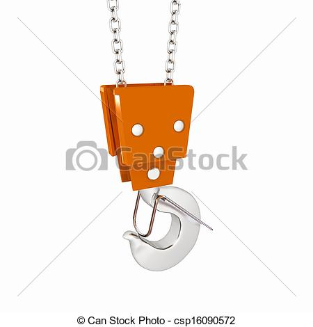 Crane Hook On A White Background