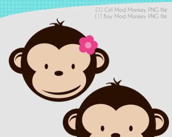 Cute Monkey Face Cartoon
