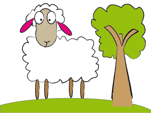 Cute Sheep Free Vector   Download Free Vector Graphics Vector Art
