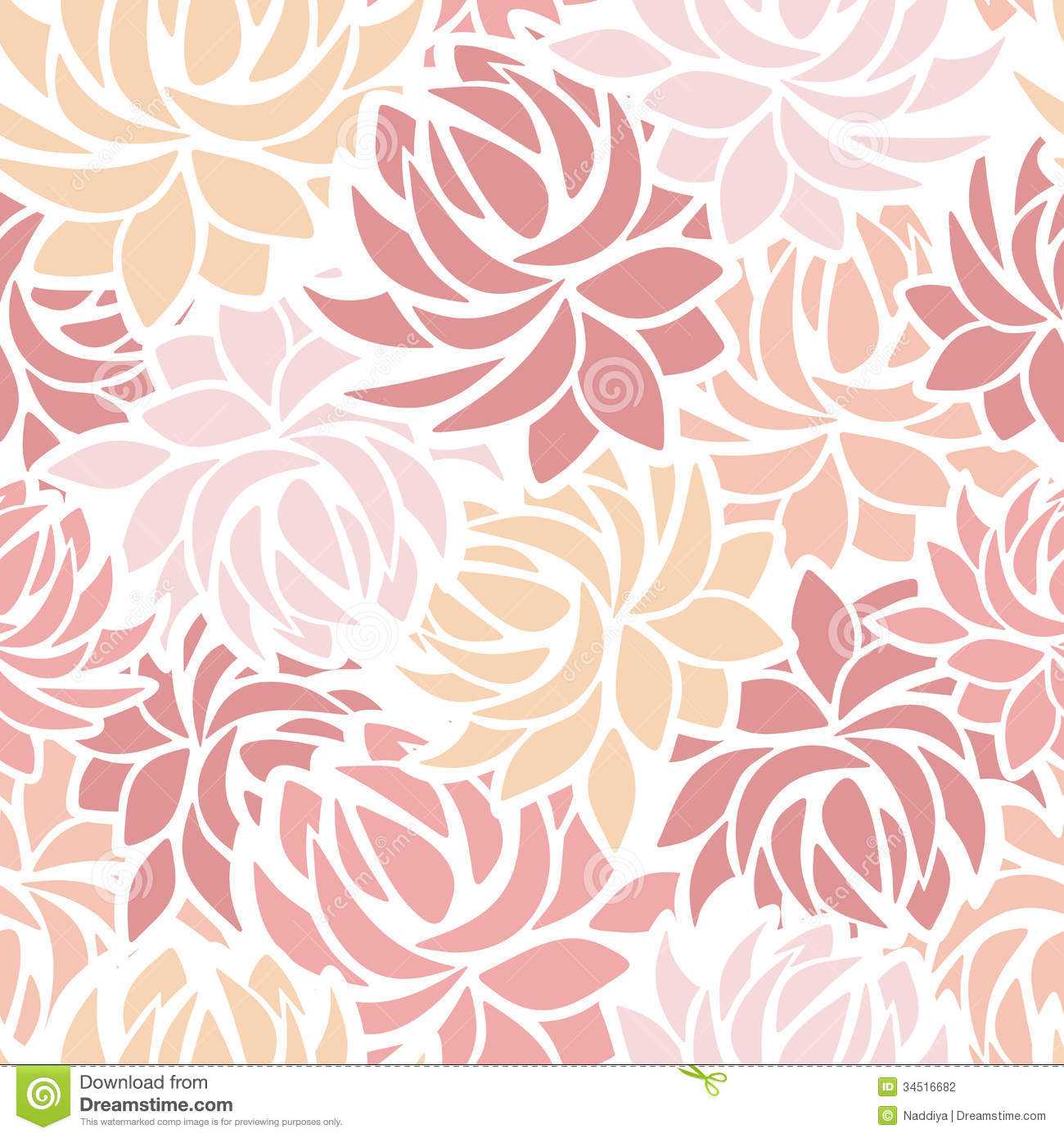 Dahlia Clip Art Seamless Pattern With Dahlia